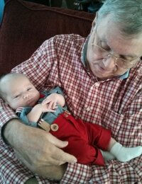 GGpop Dewey holding Dawson