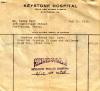 Hospital Bill for Birth of Dewey J Mort