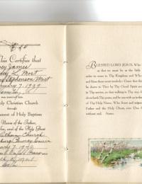 Dewey Mort Baptism Certificate