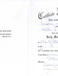 Roberta and Dewey Marriage Certificate