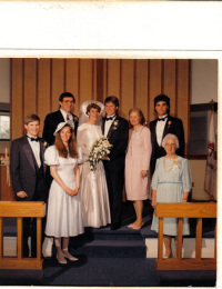 Parrish and Steve Mort Wedding Picture - 15 Apr 1989
